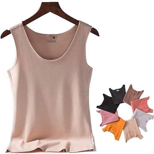 Womens Thermal Underwear Sleeveless Vest Fleece Lined Thicken Winter Warm Top