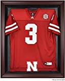 Nebraska Cornhuskers Mahogany Framed Logo Jersey Display Case