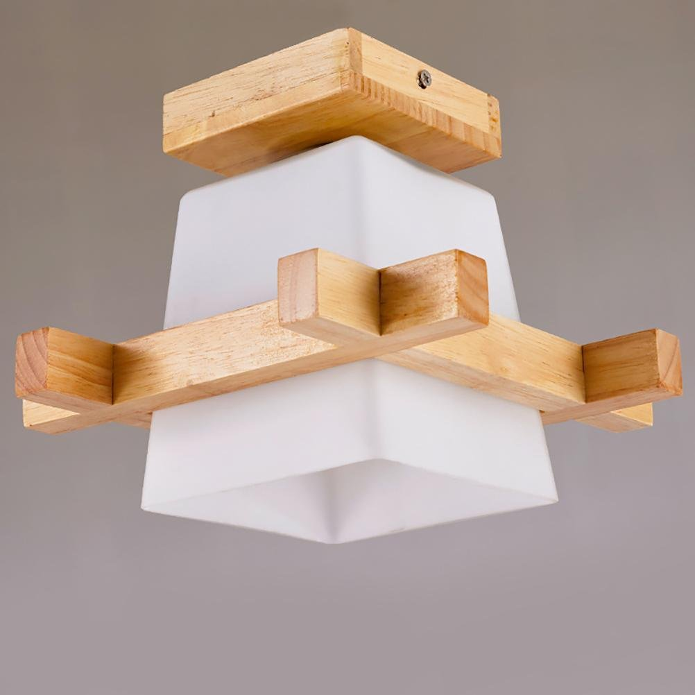 OOFAY Moderne LED Deckenleuchte Wohnzimmer Schlafzimmer Eingang Korridor Lichter Flur Lichter Holzlampen