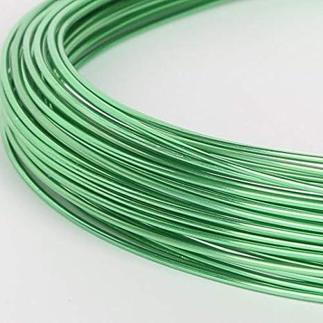 Color: Fuchsia DIY Jewelry Findings - Ni /& Pb free 1mm Laliva 10M Aluminum Wire Versatile Painted Aluminium Metal Wire 18 gauge