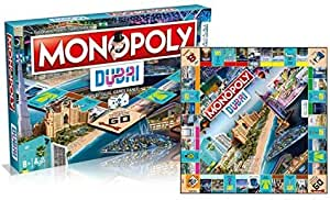 Hasbro Monopoly Dubai Official Edition 1 Dubai Game Range | Iconic Mr Monopoly Creation for UAE