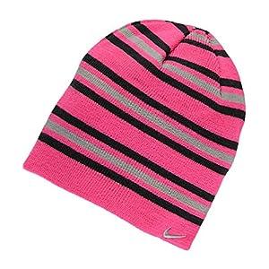 Nike Big Girls 7/16 Striped Knit Winter Hat