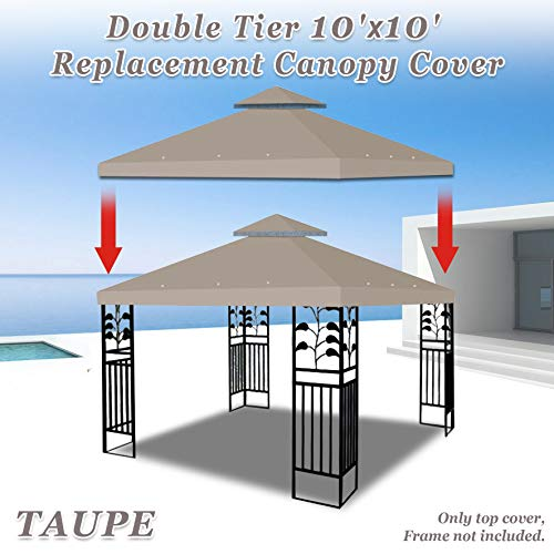 Strong Camel Dual Tier Gazebo Replacement 10' x 10' Canopy ...