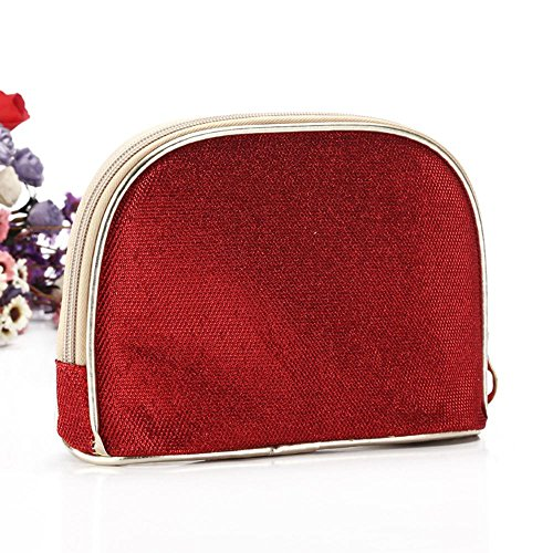 Europa y los Estados Unidos Version de cáscaras en polvo de oro bolsa cosméticos bolsa semicircular bolsa en polvo polvo en polvo, plateado azul