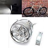 GOODKSSOP Bright 7 LED Metal Chrome Silver Retro Vintage Bicycle Bike Front Head Light Headlight Cycling Fog Lamp Night Safety