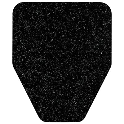 Direct Floor Mats Odor and Bacteria Eliminating Disposable Urinal Mats Black (6 Pack)