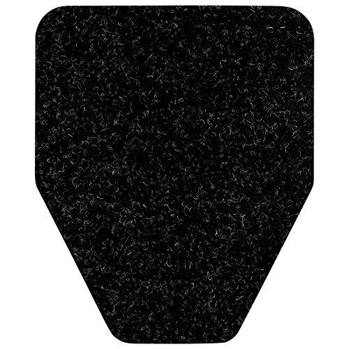 Urinal Floor Mat - Direct Floor Mats Odor and Bacteria Eliminating Disposable Urinal Mats Black (6 Pack)