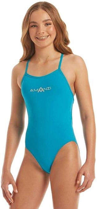 Amanzi Girls Calypso Tie Back Swimsuit (32): Amazon.co.uk
