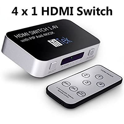 4k Hdmi Splitter,fitTek ® Hdmi ,Hdmi Cable,4-port Hdmi Switch Splitter For 1080p 40 Inch TV