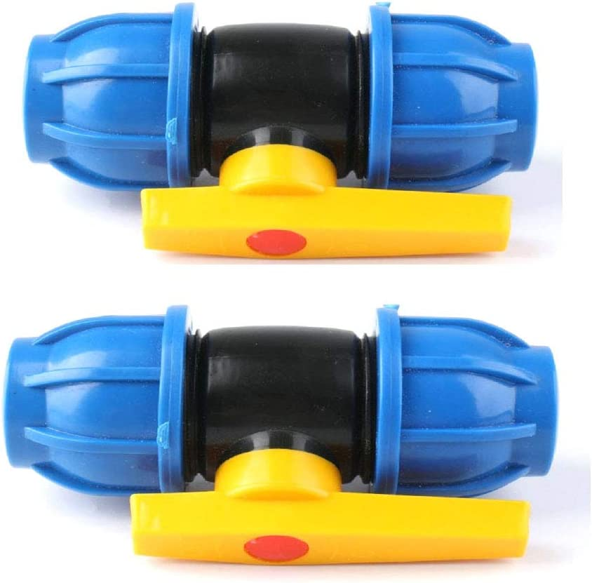 1//2 Xuee 1//2 3//4 Plastic Water Pipe Quick Valve Joint PE Pipe Steel core Ball Valve Fittings 2 pcs