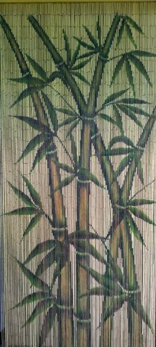 Tropical Bamboo Stalks Beaded Curtain 125 Strands (+hanging hardware) ()