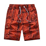 George Jimmy Cotton Shorts Casual Shorts Board Shorts Travel Beach Shorts for Men, F