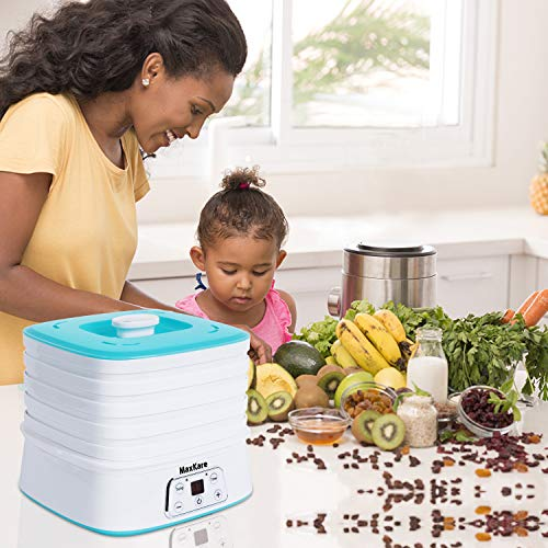 Maxkare Food Dehydrator Machine, Digital Multi-Tier Food Preservation Device with Temperature and Time Setting, Dried Fruits/Vegetables/Meat Maker, 5 Removable and Stackable Drying Trays, 210-260 watts, BPA Free by MaxKare (Image #8)
