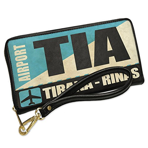 Wallet Clutch Airportcode TIA Tirana - Rinas with Removable Wristlet Strap (Tia Clutch)