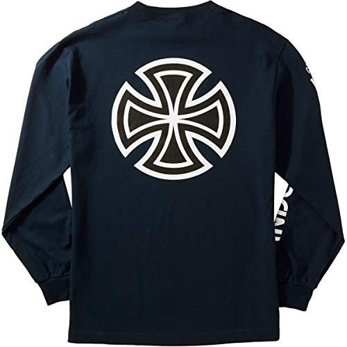 Independent Bar Cross Sleeve Longsleeve T-Shirt - Navy - LG