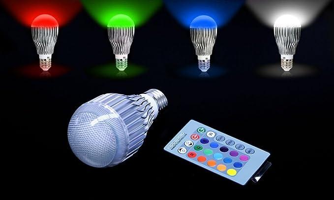 Rgb Led Lamp : Colors changing w magic e rgb led lamp light bulb ir