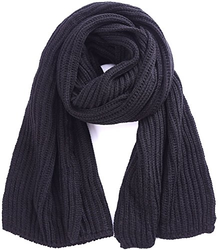 Knit Soft Black Scarf for Outdoor Knitted Winter Scarves Black Winter Scarf Pinterest Outdoor Ideas
