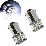 KATUR 2xBA15S BAY15D 50SMD 1206 LED Foglamp Bulbs P21W Parking Brake Turn Signal Light Lamp Bulb 118
