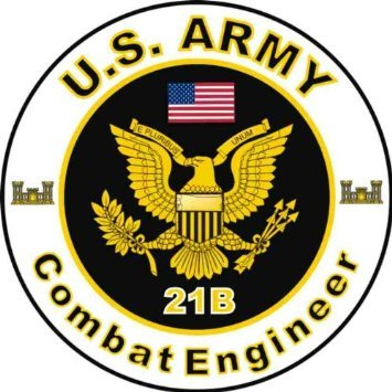 United States Army MOS 21B Combat Engineer Decal Sticker 5.5