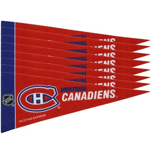 NHL Canadiens 8 Pc Mini Pennant Pack Sports Fan Home Decor, Multicolor, One (Mini Old Pennant)