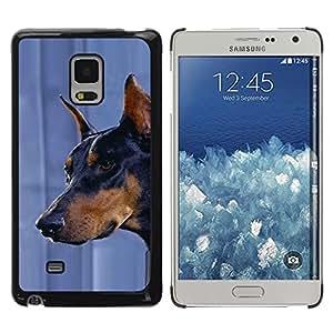 TopCaseStore / la caja del caucho duro de la cubierta de protección de la piel - Doberman Pinscher Canine Pet Dog - Samsung Galaxy Mega 5.8 9150 9152