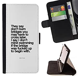 "Bright-Giant (Motivación Cartel inspirado Negro"") Modelo Colorido Cuero Carpeta Tirón Caso Cubierta Piel Holster Funda Protección Para Apple (5.5 inches!!!) iPhone 6+ Plus / 6S+ Plus"