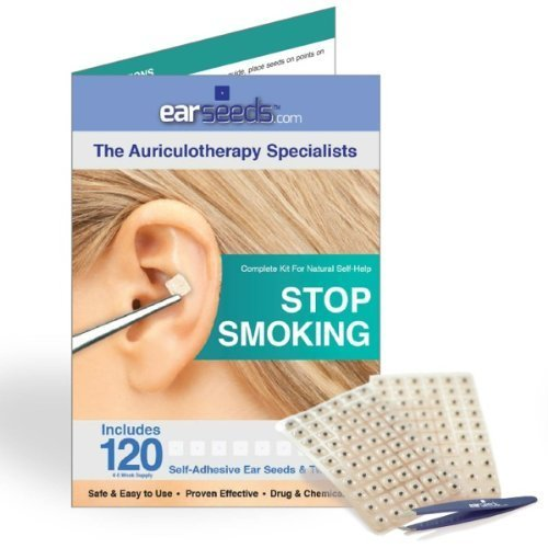 - Stop Smoking Ear Seed Kit- 120 Ear Seeds, Stainless Steel Tweezer by EarSeeds.com