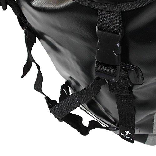 Red Loon Fahrradrucksack Rucksack reißfest wasserdicht schwarz/silber