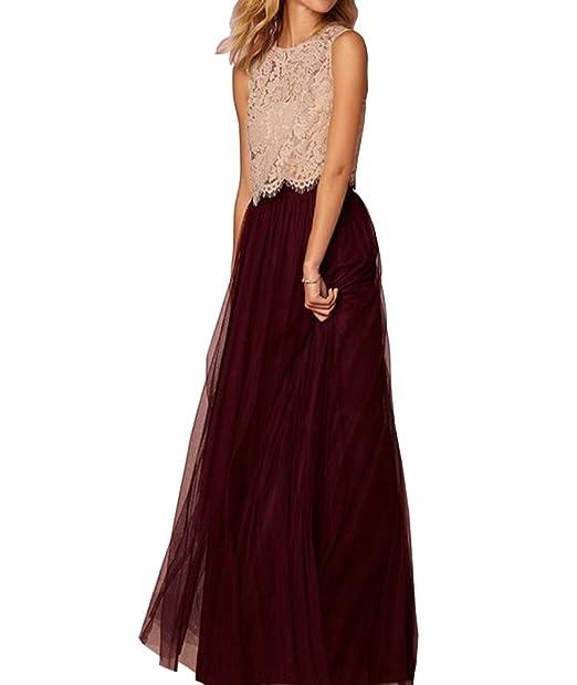 0413f5df7c CoutureBridal Women Long Tulle Tutu Elastic Tutu Maxi Skirts Prom Bridal  Burgundy