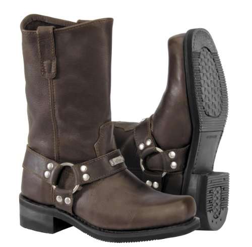 River Road Traditional Square Toe Harness Boots - 10.5/Brown