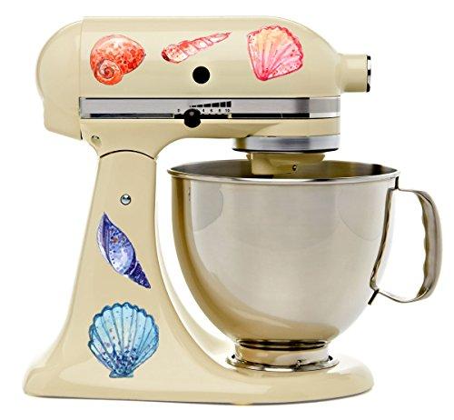 Watercolor Sea Shells Beach Kitchenaid Mixer Mixing Machine Decal Art Wrap (Color Machine Seas)