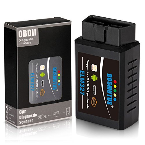 OBD-II Scanner Bluetooth Check Engine Light Auto Diagnostic Scanner Tool V1.5 Android Windows Bosmutus HH OBD2 ELM327
