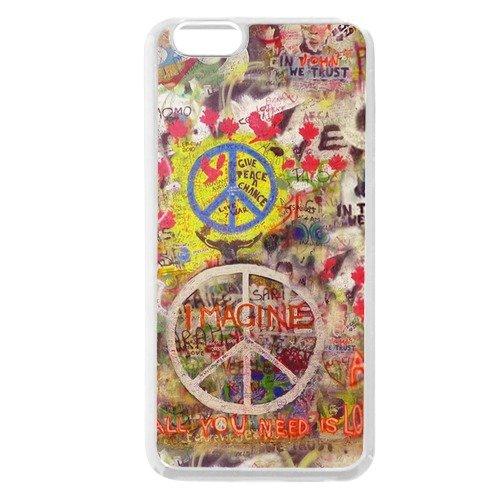 Symbol for peace 4 plastic White iPhone 6/6s 4.7 Case