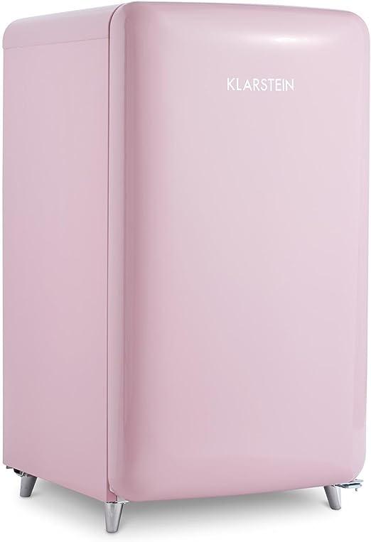 Klarstein PopArt Pink - Nevera, Look Retro 50´s, 108 L, Congelador ...