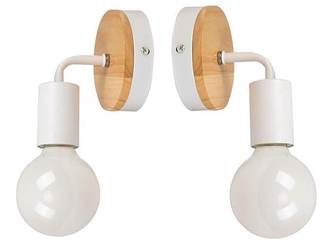 JINYU Lámpara de techo/Pared Bañadores de Pared Luz de Pared Iluminación/Spot (White),Paquete de 2