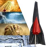 Essort 600D Oxford Housse de Protection étanche pour Parasol avec Fermeture éclair, étui de Protection Noir pour Parasol...