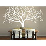 Tree Wall Decals Large White Vinyl Wall Stickers for Living Room