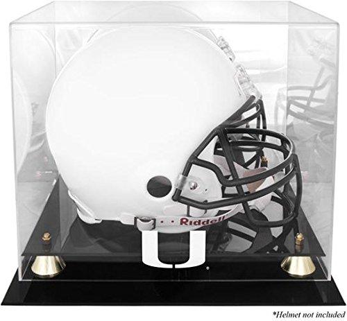 Miami Hurricanes Team Helmet - Miami Hurricanes Golden Classic Team Logo Helmet Case with Mirrored Back