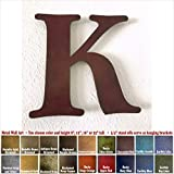 Metal Letter K – 8″, 12″, 16″ or 22″ inch tall – Handmade metal wall art – Choose your Patina Color, Size and Letter or Number Review