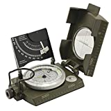 Ueasy Compass,Hiking Boat Military Compass - Multifunction Waterproof Mirror Guidence Army Metal Sighting Compass
