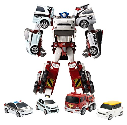 Tobot Youngtoys Quatran, Car Transforming Robot Car to Robot Animation Character 4 Car Integration quadrant