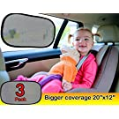 "Car window shade (3px) - Car sun shade EXTRA LARGE 20""x12"" with Maximum UV/Sun Protection - Car Sunshade with 100% money back guarantee - latest in interior car accessories"