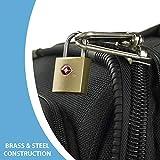 Lewis N. Clark Mini Brass Square TSA Lock + Padlock