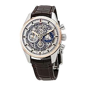 Zenith El Primero Chronomaster Reloj para hombre de acero inoxidable y oro rosa, esfera esquelética automática 51.2151.400/78.C810 1
