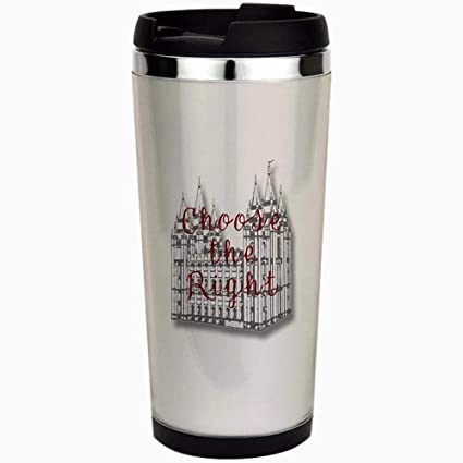 15824df6f59 Amazon.com: Temple Choose the Right - Stainless Steel Travel Mug, Insulated 15  oz. Coffee Tumbler.: Kitchen & Dining