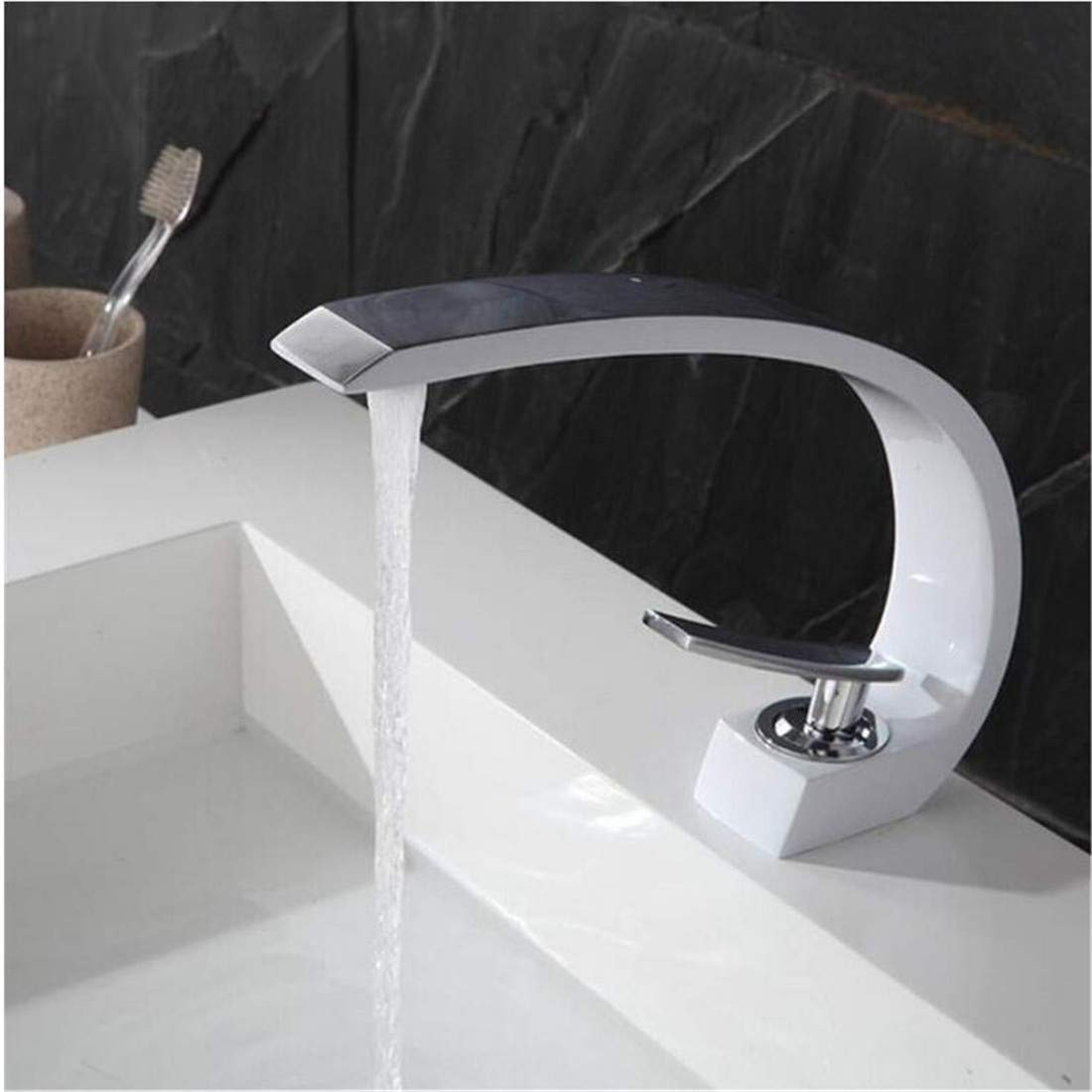 Modern High Quality Vintage Faucet Made Chrome Weiß Painting,Chrome Grün Painting Deck Mounted Faucet