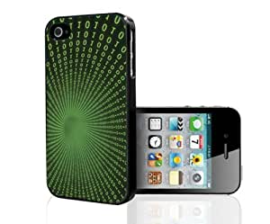Green and Black Caught in the Matrix Numbers Hards Snap on Phone Case (iPhone 5/5s) wangjiang maoyi