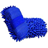 KJG Microfiber Chenille Auto Car Wash Sponge Cleaning Brush Pad ( 2 of Package )