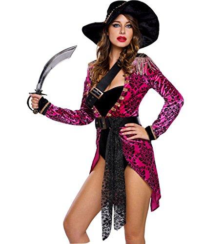 Dreamsoar Womens Swashbuckler Halloween Pirate Costume cosplay S