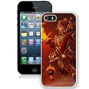 5S case,Lina Dota Dragonfire Set White iPhone 5s cover